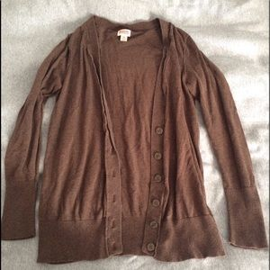 Brown women's cardigan